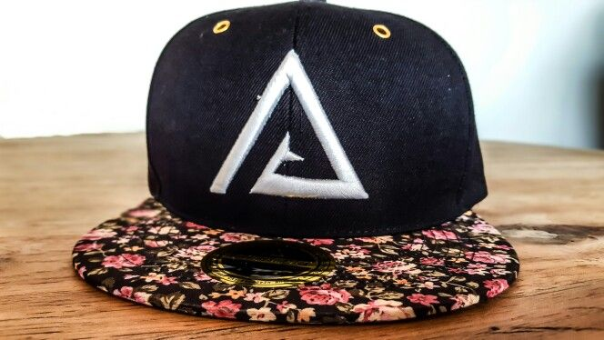 Pure Aesthetice Black Floral snapback