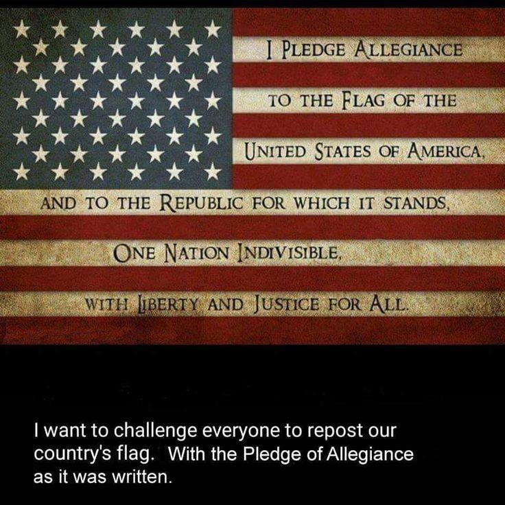 The 25+ best Original Pledge Of Allegiance ideas on Pinterest ...