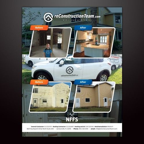 Creative Construction Company Flyer We Are A Residential Service
