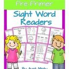 This pack includes 10 original Dolch pre-primer sight word readers along with extension activities for each reader. All the pre-primer words are us...