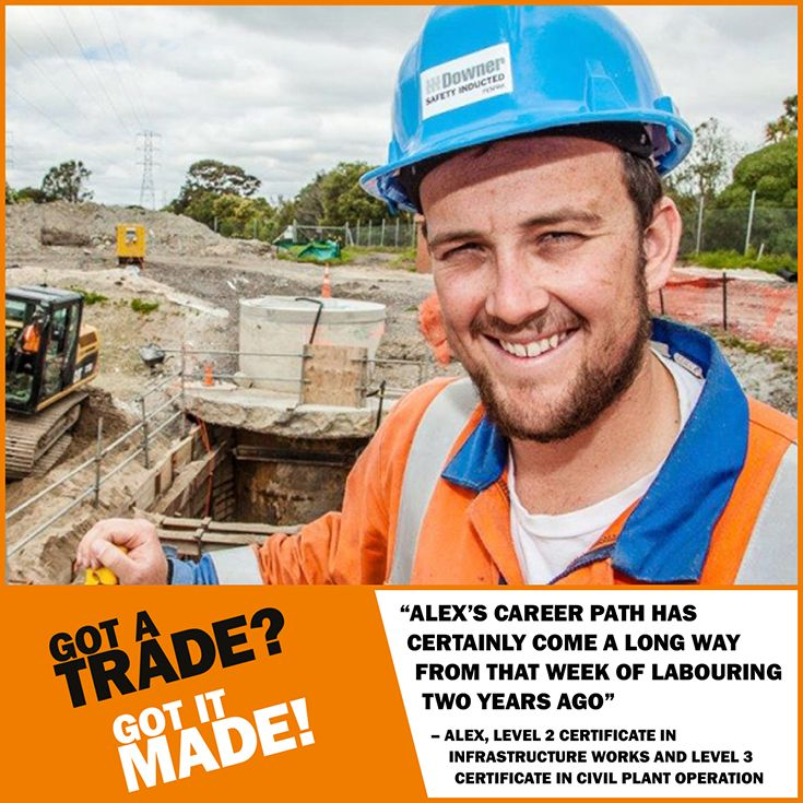 An #Apprenticeship takes you from the ground level ... all the way up.