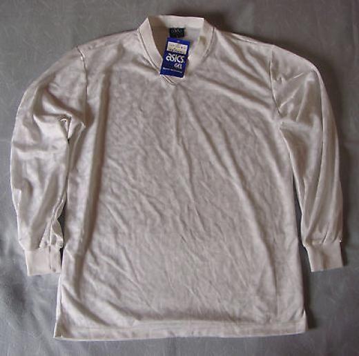Asics Vintage 1980s Ls Football Shirt Soccer Jersey Fst224 Size Xl White Bnwt Jerseys Long Sleeve Xl Greece White