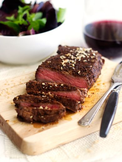 Chocolate Chipotle Rubbed Steak with Coconut {Low Fat, Gluten Free, High Protein, Low Carb + Paleo} - Food Faith Fitness