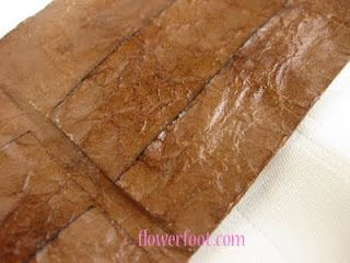 making paper look like leather for book making