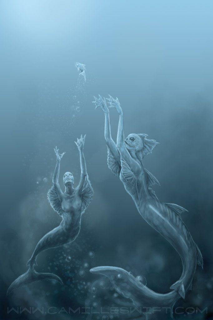 Очень страшные картинки русалок