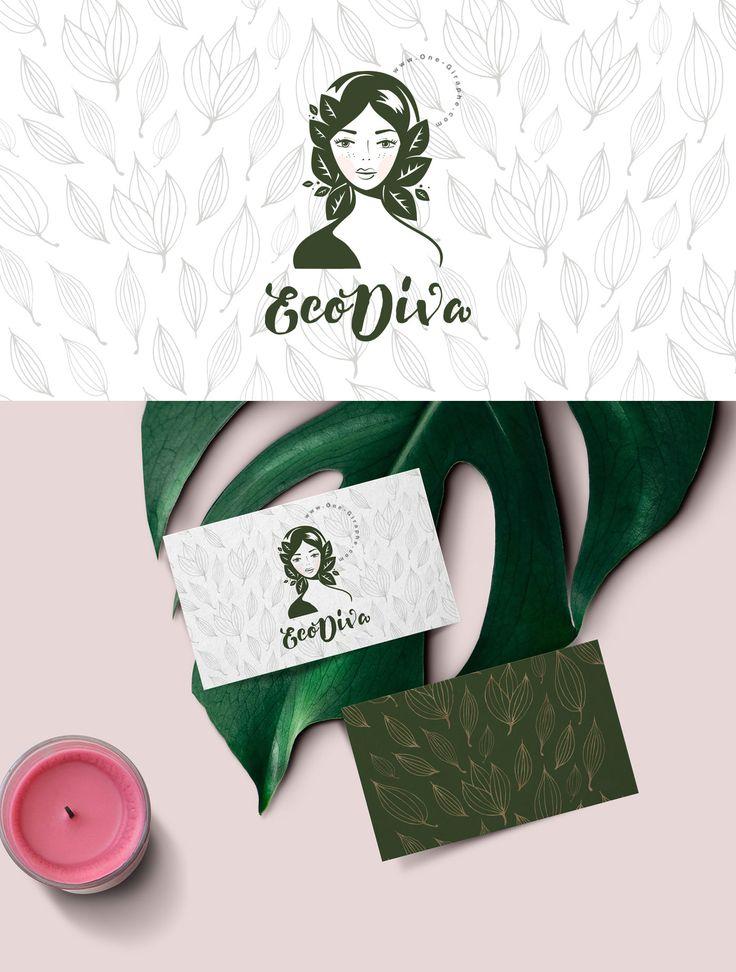 New Brand Identity for sale: EcoDiva http://one-giraphe.com/prev.php?c=244  #brandidentity #logostore #readymadelogo #ecodiva #brand #logo #logodesign #logodesigner #behance #romaniandesigner #graphicdesign #beauty #woman #womanlogo #girl #eco #green #behance #designer #romaniandesigner #beautylogo #cosmetics