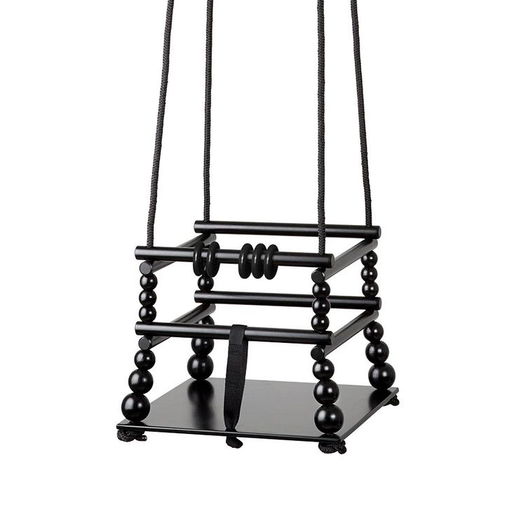 Wooden swing, black