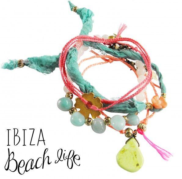 Ibiza style bracelets