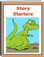 """The eWorkbook titled """"Story Starters"""" consists of 16 pages. This set of worksheets include writing skills, creativity, sentence structure, thinking skills, and more. Students are give three illustrations on each page. They must use their thinking skills to write about each picture.: Student, Three Illustrations"""