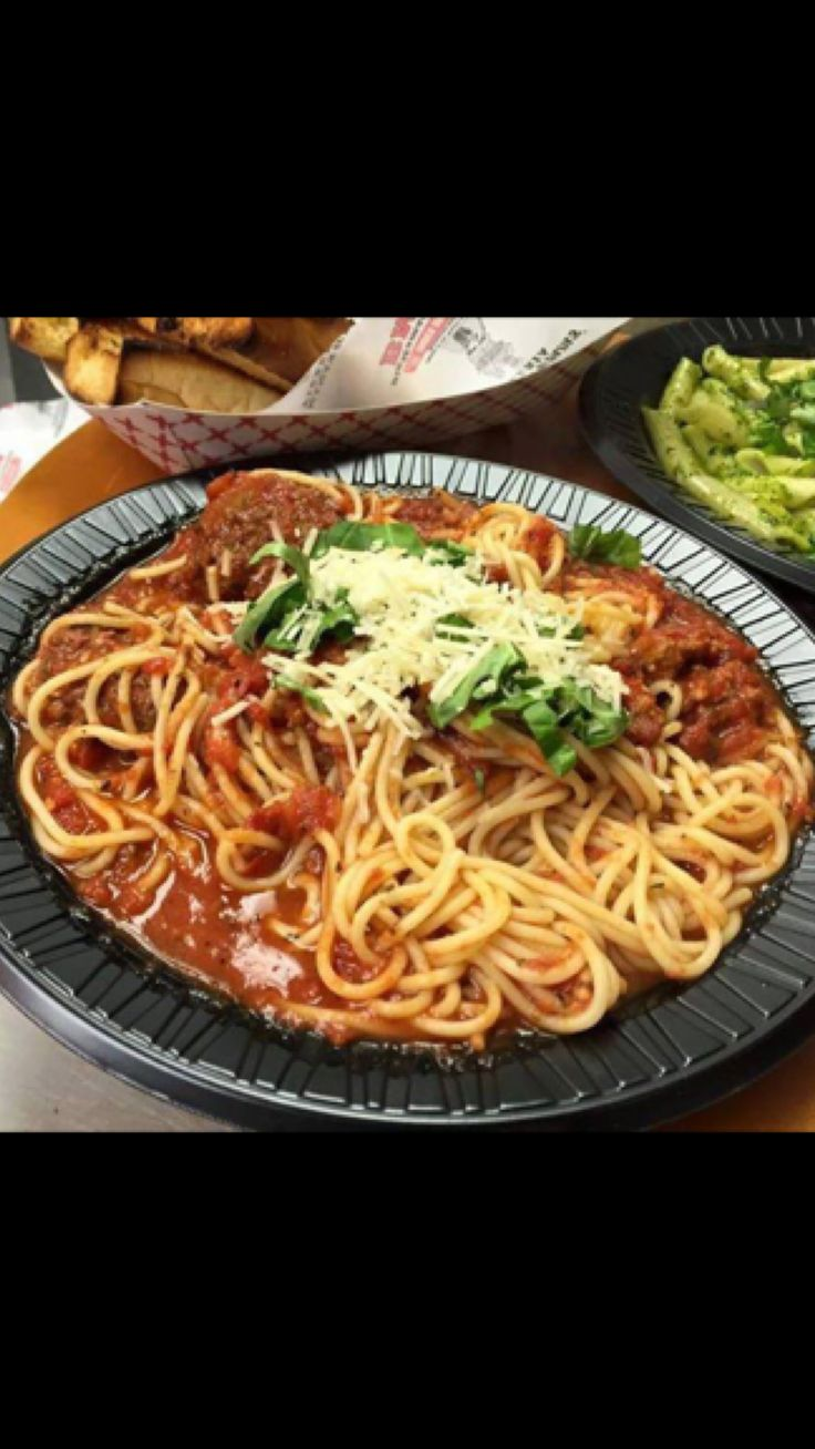 Always a great choice! #BMPP Spaghetti and Meatballs.  Pro Tip: Order delivery online 7 times and get a large 2 topping pizza for free!  https://ordernow.bigmamaspizza.com/