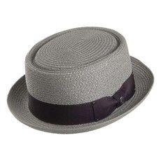 Jaxon & James Toyo Braided Pork Pie Hat – Grey   – boda