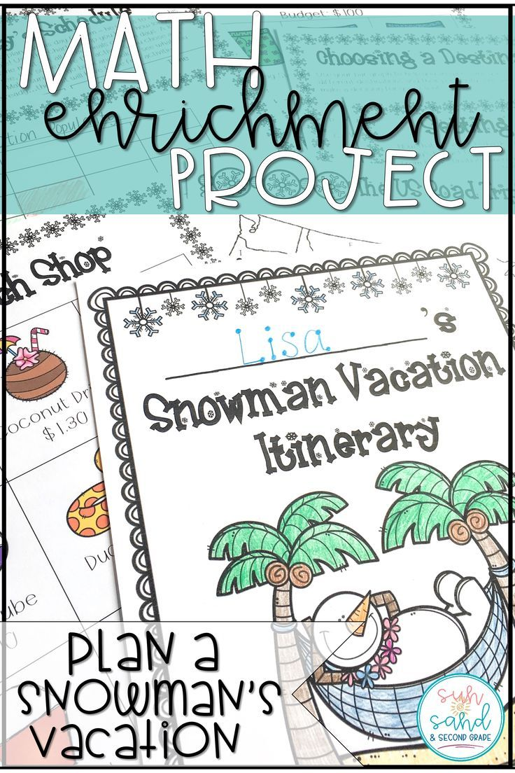 This winter math project will have your students practicing real-world math while having a BLAST! They are travel agents that are planning a vacation for Sammy the Snowman. They must make several decisions about the trip, practicing several common core math standards along the way.