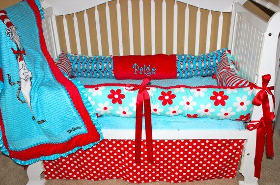 CUSTOM BABY BEDDING- Dr Seuss set