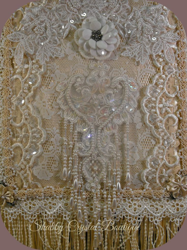 17 Best Images About Fabric Lace Wall Hanging S On