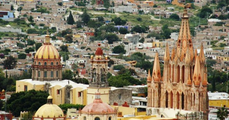 San Miguel del Allende Mexico  The fortified town, first established in the 16th century to protect the Royal Route inland, reached its apogee in the 18th century when many of its outstanding religious and civic buildings were built in the style  ...