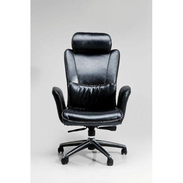 Καρέκλα Γραφείου Big Boss Black Μία άνετη και αναπαυτική καρέκλα γραφείου, με επένδυση δερματίνης (PU) και μεταλλικό σκελετό.