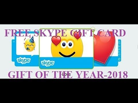 Free Skype Gift Card Offer 2018 Best Gift Cards Free Printable