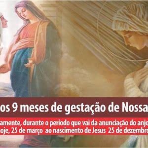 NOVENA DOS NOVE MESES DE GESTAÇÃO DE NOSSA SENHORA - JAÉ - Juventude Amor Esperança