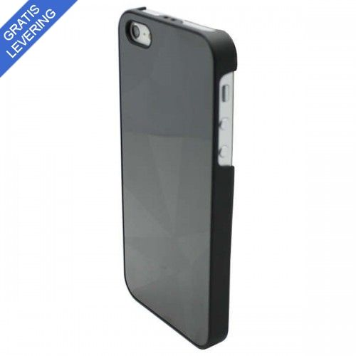 "Sort iPhone 5/5S Spejl Cover ""Trekanter"""