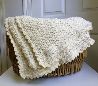 Pure and Simple baby blanket crochet pattern by Little Monkeys Design