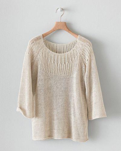 Image of Stitch Detail Linen Knit