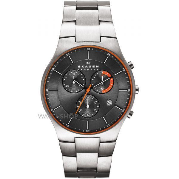 Mens Skagen Balder Titanium Chronograph Watch SKW6076