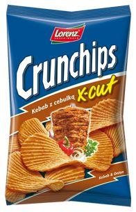 Orientalny smak na fali - kebab z cebulką doskonale syci głód :) #Crunchips #chips #XCut #kebab #tasty