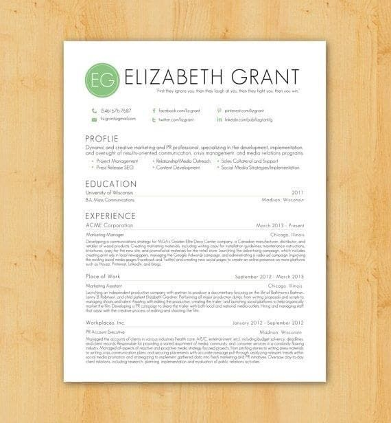 purchase resume template