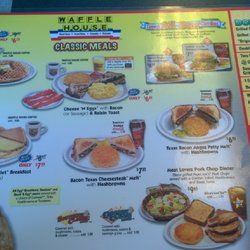 You can now easily browse the complete  Waffle House Menu with prices here, including the Dinner Menu, Chicken Menu, Lunch Menu and the always popular Waffle House Breakfast Menu.