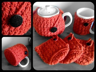 Star Stitch Teapot & Cup Cosy Set