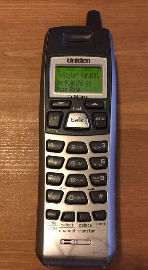 Single Uniden 5.8 GHz Cordless Telephone Phone Handset  DXAI5688 & Power Cradle #Uniden