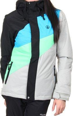 Volcom Slogan Insulated - black - Snowboard Shop > Women's Snowboard Outerwear > Women's Snowboard Jackets > Women's Insulated Snowboard Jackets