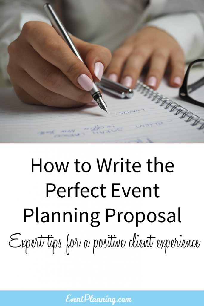 How to Write an Event Planning Proposal - contract proposal