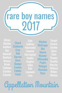 Looking For Unique Baby Names These Rare Boy Were Given To Just 8 Boys In 2016 If You Love Cool That No One Else Is Using