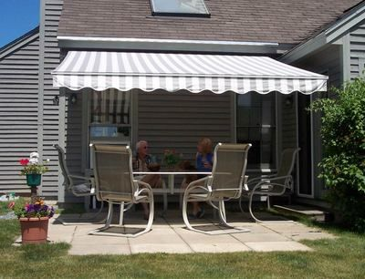 Patio Retractable Awning Extended www.awningresources.com