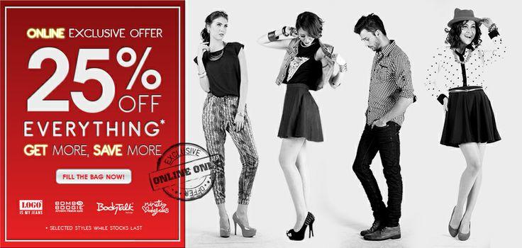 Hari Jumat, Sabtu, Minggu ini kamu bisa dapat diskon 25% khusus di online store. Segera kunjungi www.bodytalk.co.id