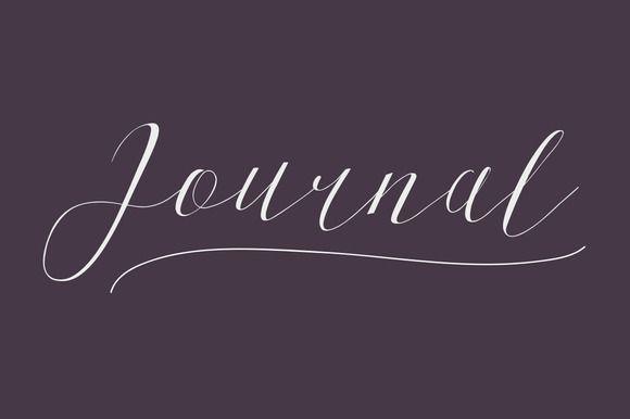 Journal Typeface by Maulana Creative on @creativemarket