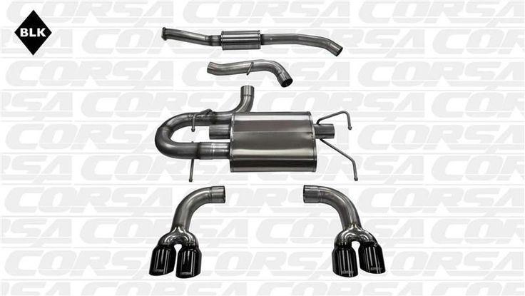 Corsa 2008-2014 Subaru Impreza WRX and STI 2.5L Black Sport CatBack Exhaust System (Hatchback/ Manual)