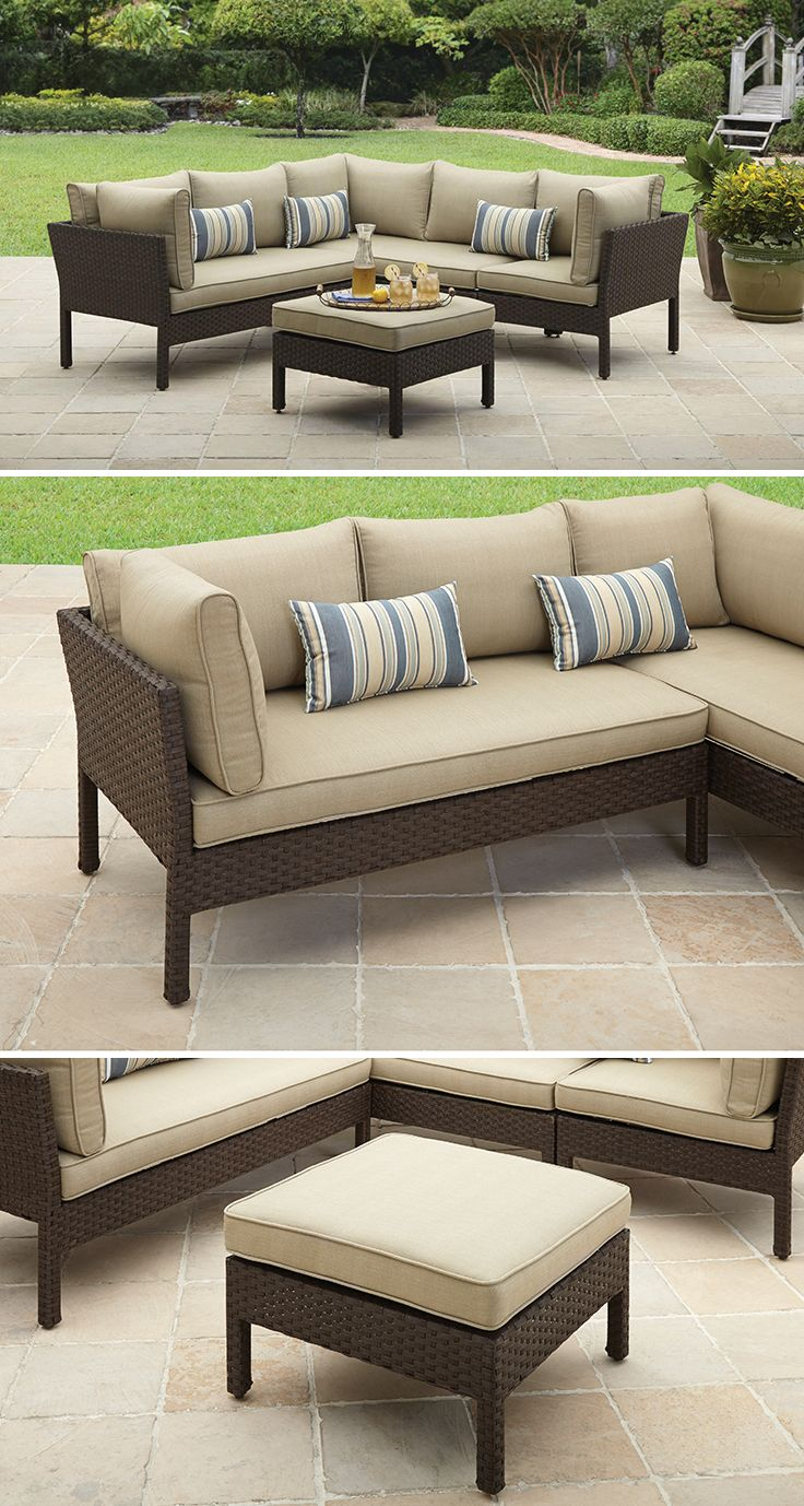 Better Homes and Gardens Avila Beach 4-Piece Sectional #BHGMakeitFunEntry |  Home Is Where Our Story Begins... in 2018 | Pinterest | Home and garden,  Better ... - Better Homes And Gardens Avila Beach 4-Piece Sectional
