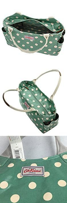 Cath Kidston Bags. Cath Kidston Oilcloth Day Bag Handbag Polka Button Spot Green 16AW.  #cath #kidston #bags #cathkidston #kidstonbags