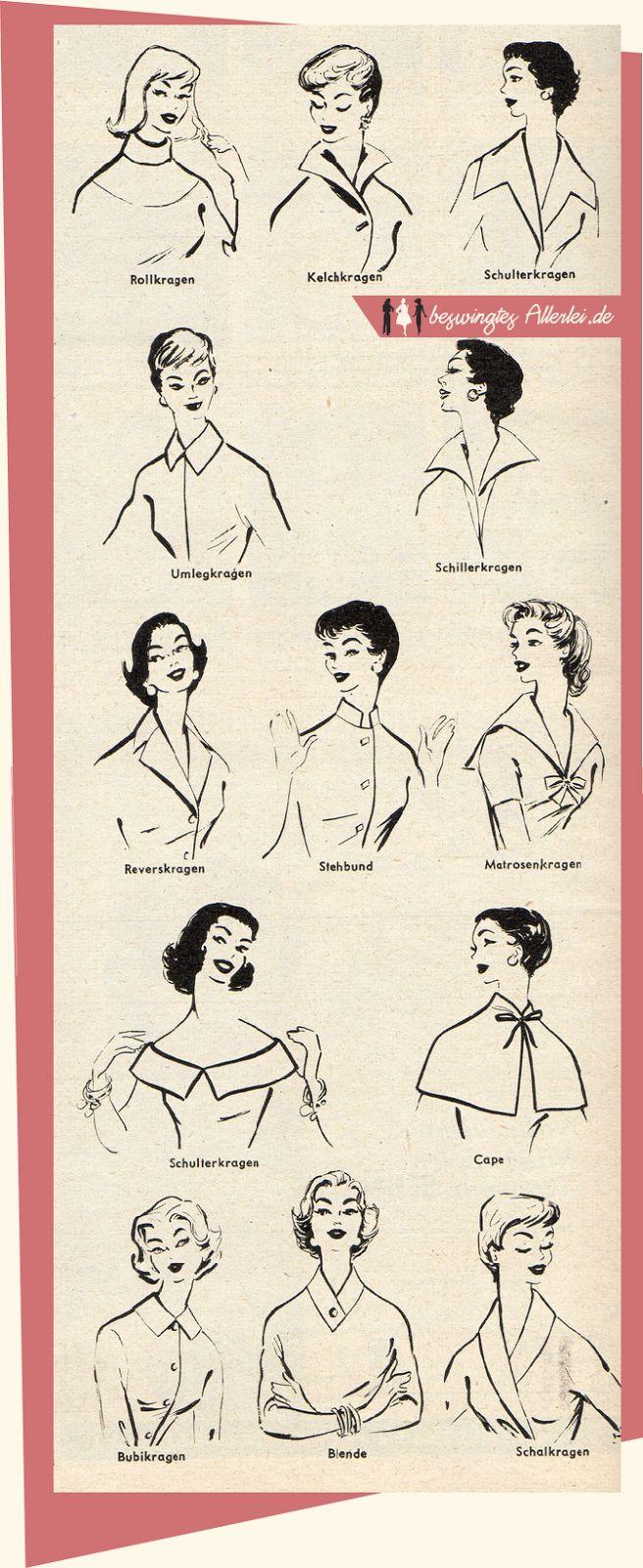 Beswingtes Allerlei - Swing, Mode der 40er und 50er Jahre und Leidenschaft!: Kragenformen