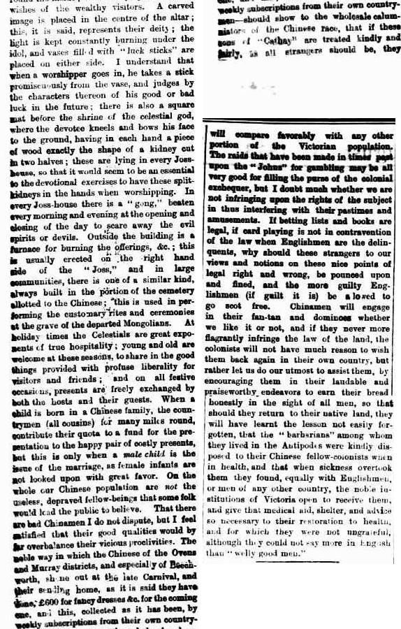 1873 description of beechworth chinese camp