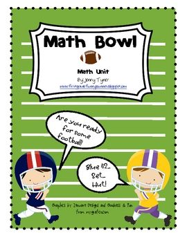 Use on Super Bowl Day. Free and Very Cute math unit This Math unit ...