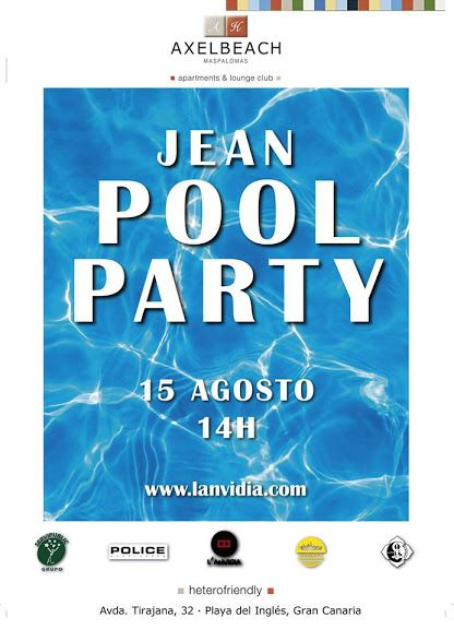 * * * Jean Pool Party Maspalomas * * *  Axelbeach Maspalomas will be hosting the Jean Pool Party...  Read More: http://www.whatsoningrancanaria.com/jean-pool-party-maspalomas/  #poolparty #pool #party #fiesta #heterofriendly #gay #gayfriendly #gayrights #music #dance #bar #drinks #swimwear #swimmingpool #playadelingles #maspalomas #grancanaria #canaryislands #islascanarias #canaries #canarias #spain #españa