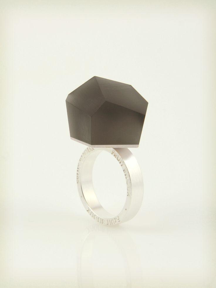 VU - anthracite grey, silver ring -=PYO=