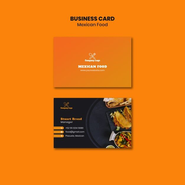Download Mexican Food Business Card Template For Free Food Business Card Business Card Template Free Business Card Templates