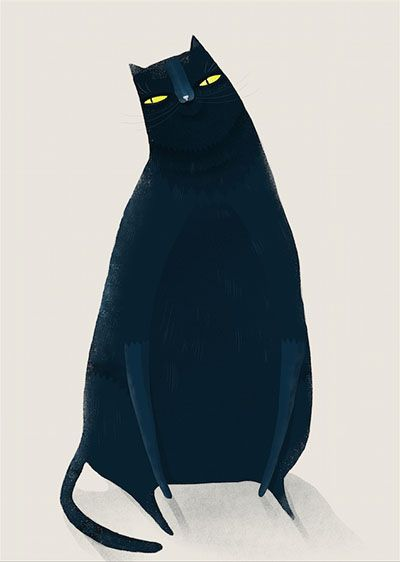 """Fat cat"" by Anna Rudak"