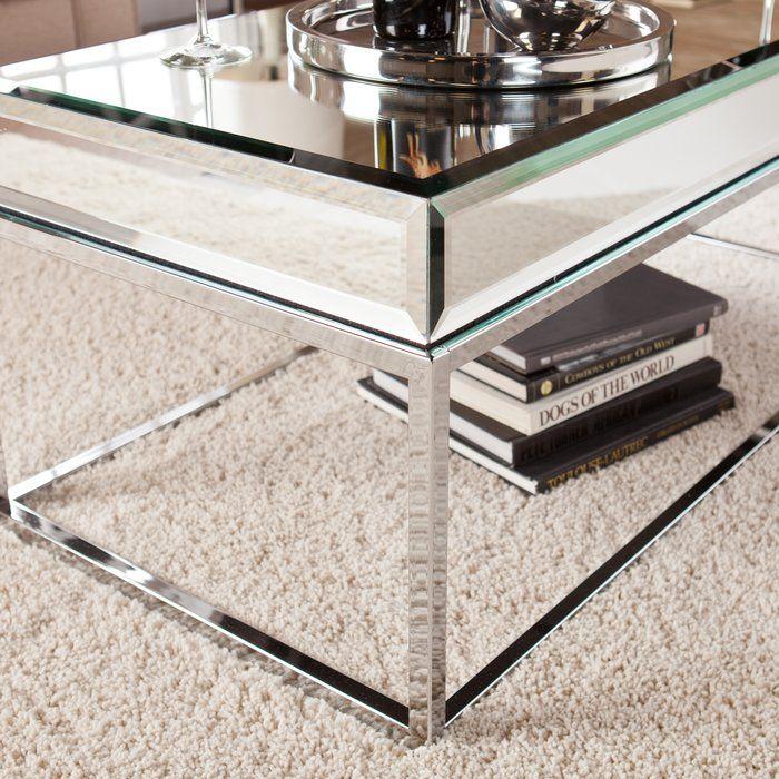 Leavitt Coffee Table Mirrored Coffee Tables Coffee Table Chic Coffee Table