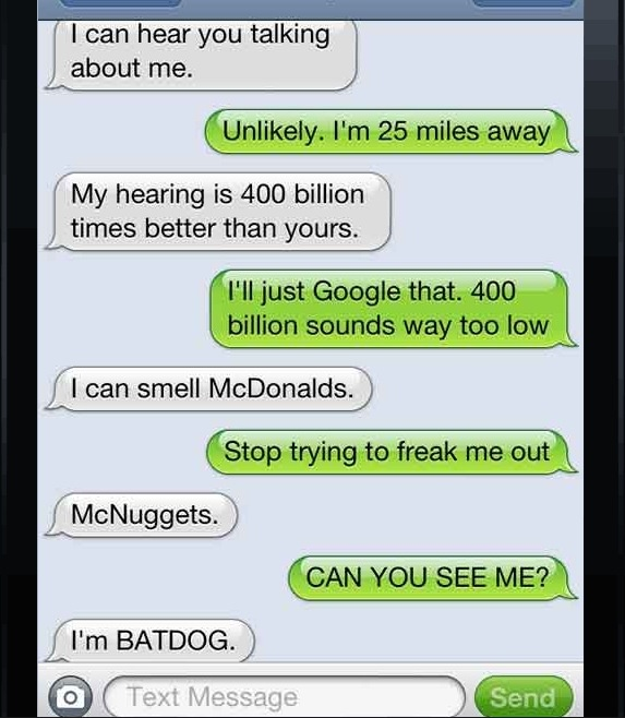 A conversation between a dog and his owner. If your dog ...