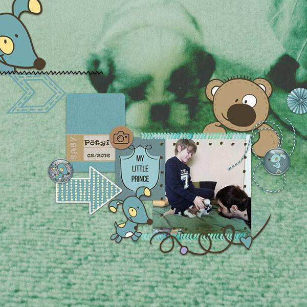 Oscraps.com :: Shop by Category :: All New :: SoMa Design: Baby album - Boy - Kit